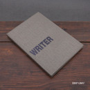 Deep gray - Writer hardcover plain and lined notebook
