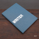 Blue - Writer hardcover plain and lined notebook