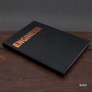 Black - Engineer hardcover grid notebook