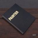 Black - Painter spiral drawing notebook