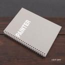 Light gray - Painter spiral drawing notebook