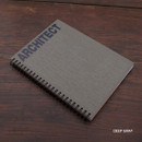 Deep gray - Architect spiral drawing notebook