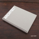 Light gray - Architect spiral drawing notebook