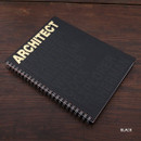 Black - Architect spiral drawing notebook