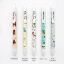 Willow pattern 0.5mm knock ballpoint pen black ink