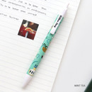 Mint tea - Willow pattern 0.5mm knock ballpoint pen black ink