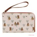 Pink bear - Willow story pattern half zip around wallet