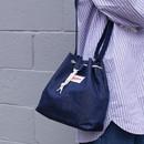 Denim blue - Etude daily cotton bucket bag