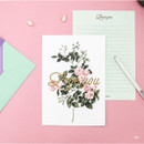 03 - Blossom illustration letter paper and envelope set
