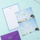 04 - Moment illustration letter paper and envelope set