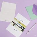 05 - Moment illustration letter paper and envelope set