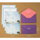 Size of Moment illustration letter paper and envelope set