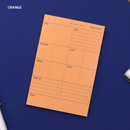 Orange - Today's diet schedule notepad