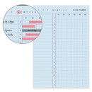 Detail of 10 minutes daily plan memo notepad