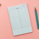 01 - Checklist plan memo notepad
