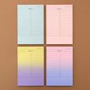 Checklist plan memo notepad