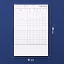Size of Habit tracker memo notepad