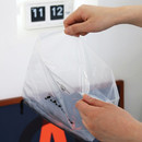 Travel clear drawstring pouch bag set