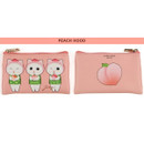 Peach hood - Jetoy Choo Choo cat flat zipper card case