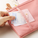 Pink - Livework A low hill basic mesh pocket daily pouch