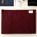 Raspberry - Livework A low hill basic mesh pocket file pouch ver2