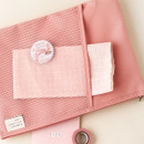 Pink -Livework A low hill basic mesh pocket file pouch ver2
