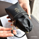 Classy black - Sunny twin glasses pocket drawstring pouch