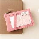Pink - Livework A low hill basic mesh pocket small pouch ver2