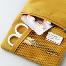 Mustard - Livework A low hill basic mesh pocket small pouch ver2