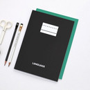 Solid black - 2NUL Language B5 study lined notebook ver3