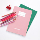 Indi pink - 2NUL Language B5 study lined notebook ver3