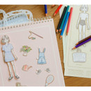 Paper doll - SOSOMOONGOO Time together medium spiral drawing notebook