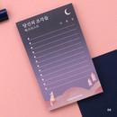 04 - Moonlight illustration checklist notepad