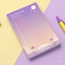 02 - Moonlight illustration checklist notepad