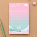 01 - Moonlight illustration checklist notepad