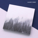 Misty forest - But today memo notepad