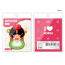 Bride - Korean traditional family PVC bottle opener