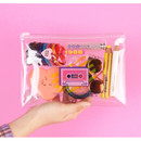 After The Rain 1988 retro clear zip lock medium pouch