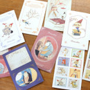 Indigo Classic fairy tale Pinocchio small postcard with stickers