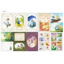 Sticker -  Indigo OZ small postcard with stickers
