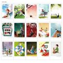 Postcard - Indigo Anne small postcard with stickers
