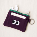 Purple - Livework Som Som stitching card case with key ring ver2