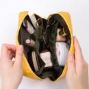 Inside of Ggo deung o beauty cosmetic makeup pouch