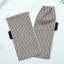 Black - Bookfriends Stripe medium drawstring pouch