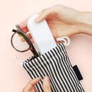 Black - Bookfriends Stripe small drawstring pouch
