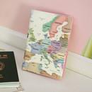 Pastel - Indigo World map pattern passport cover case holder