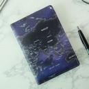 Glow - Indigo World map pattern passport cover case holder