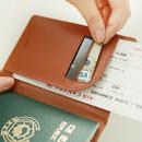 Indigo World map pattern passport cover case holder