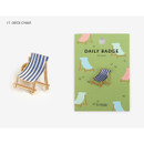17 Deck chair - Dailylike Daily 24k gold plated badge