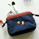 Navy - Dailylike Daily standing beauty cosmetic makeup pouch